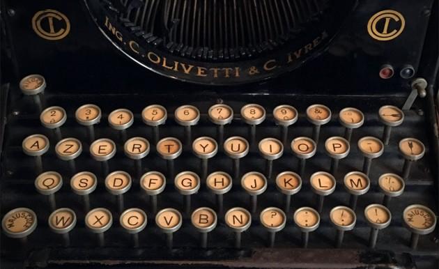 First Olivetti writing machine