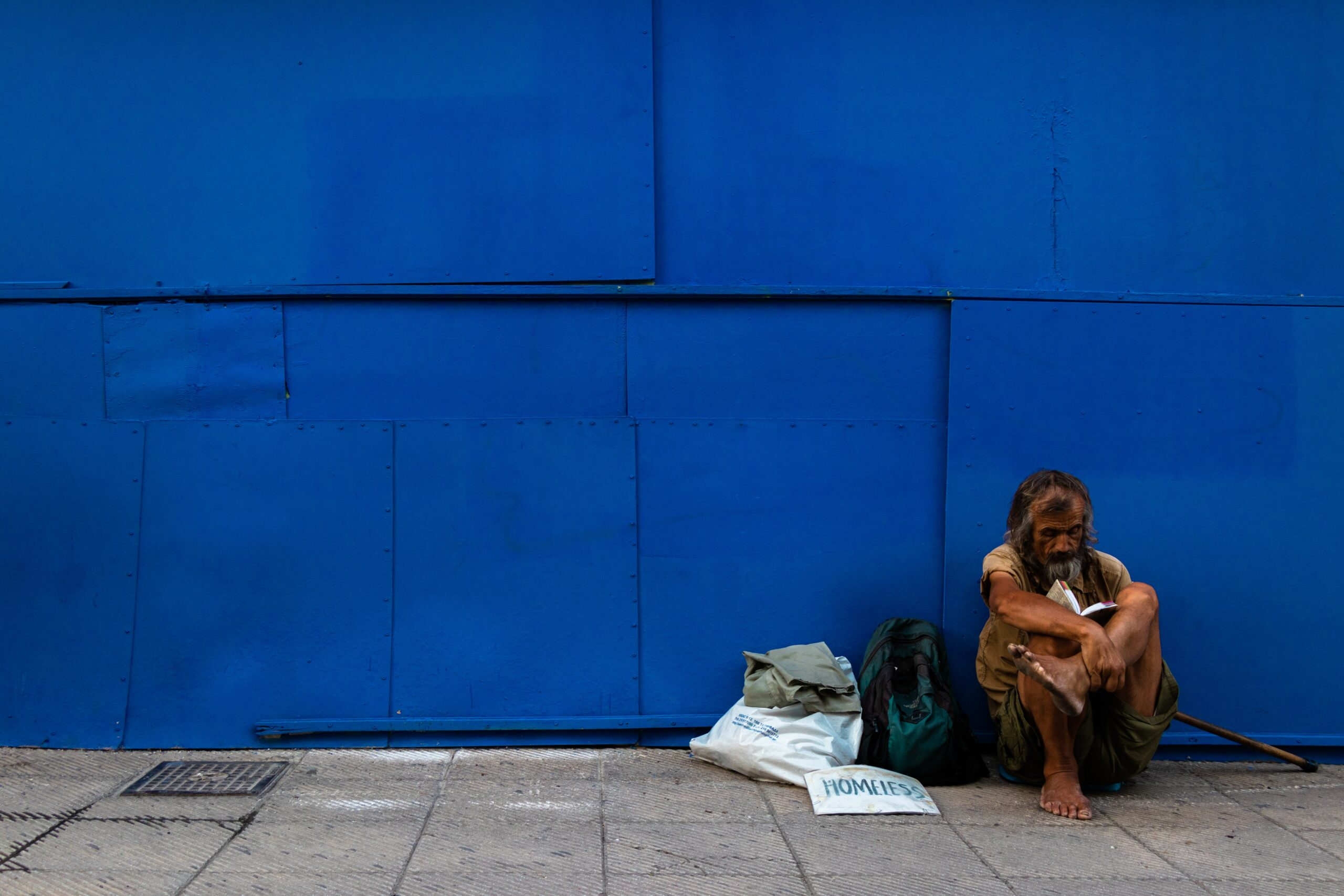 Athens homeless person